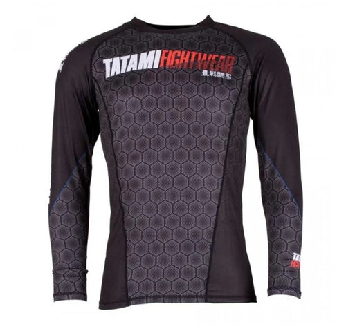 "Tatami ""Hexagon"" Grappling Rash Guard - Black"