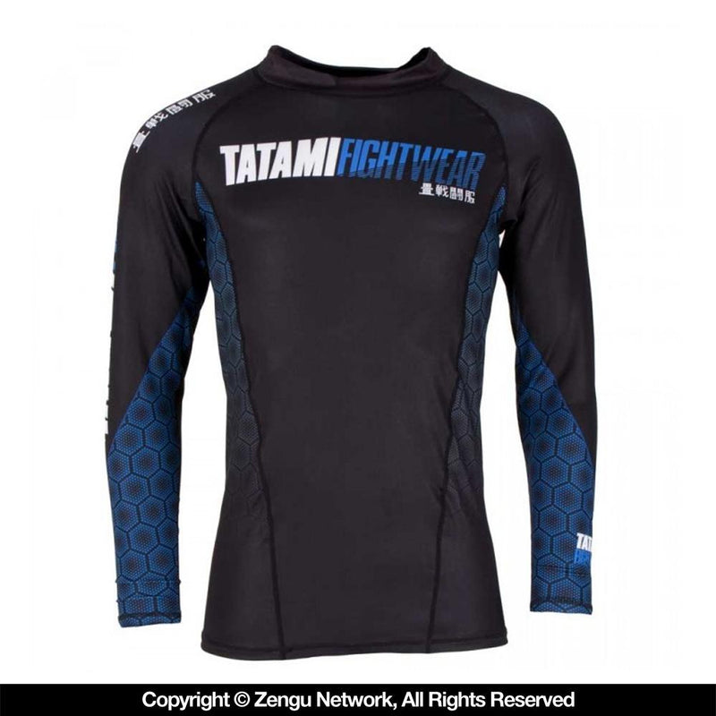 "Tatami ""Hexagon"" Grappling Rash Guard - Blue"