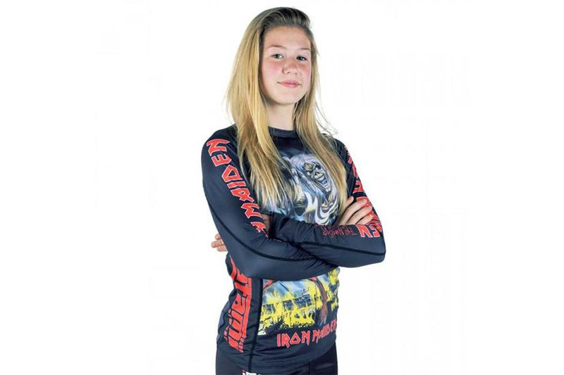 "Tatami ""Iron Maiden Number Of The Beast"" Children's Grappling Rash Guard"
