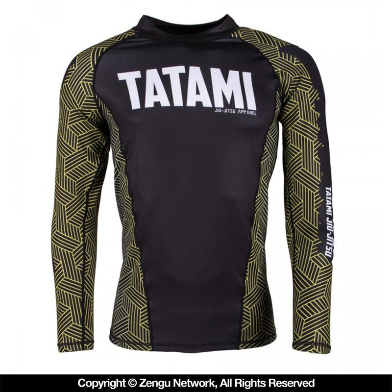 "Tatami ""Kanji"" Rash Guard - Yellow"