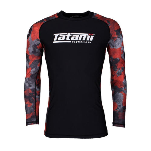 "Tatami ""Renegade Red Camo"" Long Sleeve Rash Guard"