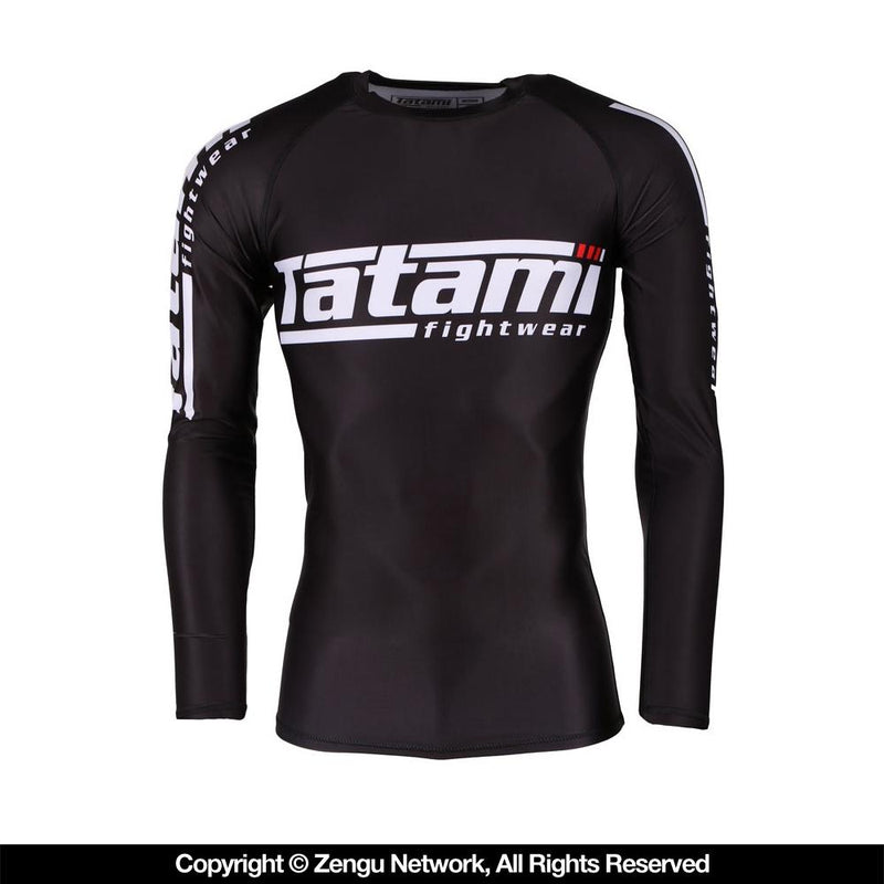 Tatami Long-Sleeve Black Rash Guard