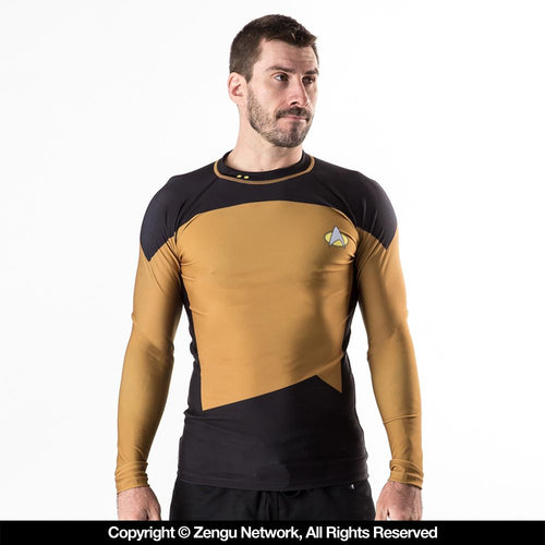 "Star Trek ""The Next Generation"" Rash Guard  - Gold"