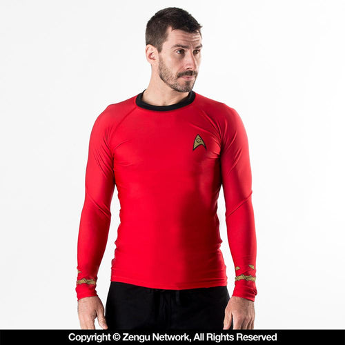 Star Trek Rash Guard - Classic Red Uniform