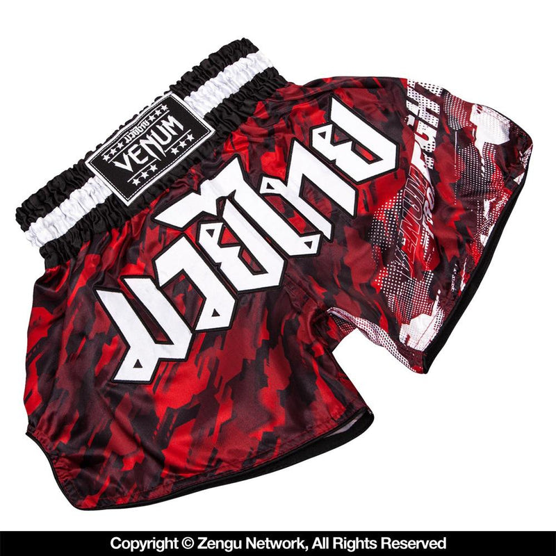 "Venum ""Tecmo"" Muay Thai Shorts - Red"
