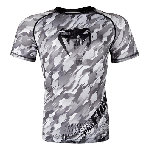 "Venum ""Tecmo"" Short Sleeve Rash Guard - Grey"