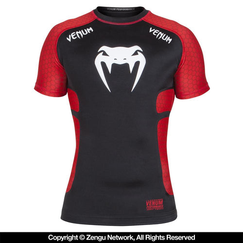 "Venum ""Absolute"" Black/Red Compression Shirt"