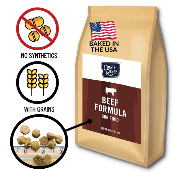 Gently-Baked Beef Formula Food for Adult Dogs - 12lb Carton (3 x 4lb bag)