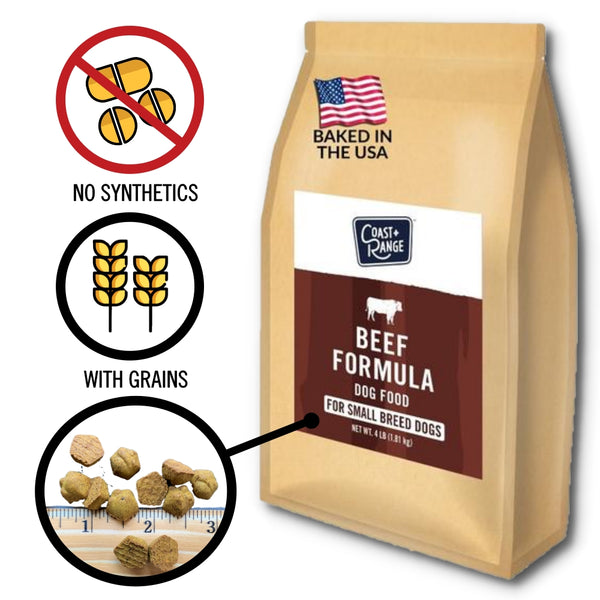 Gently-Baked Beef Formula Food for Adult Small Breed Dogs - 4lb Carton (1 x 4lb bag)