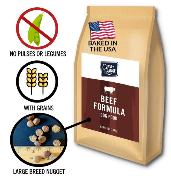 Gently-Baked Beef Formula 3.0 WITH GRAINS for Larger Breed Adult Dogs - 12lb Carton (3 x 4lb bag)
