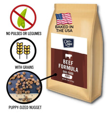 Gently-Baked Beef Formula 3.0 WITH GRAINS for PUPPIES - 8lb Carton (2 x 4lb bag)