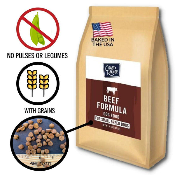 TASTY: Gently-Baked Beef Formula 3.0 WITH GRAINS for Adult Small Breed Dogs