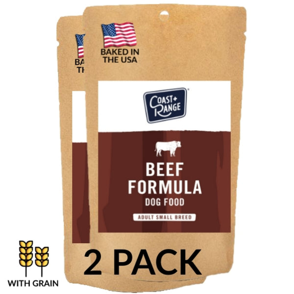 Gently-Baked Beef Formula Dog Food for Adult SMALL BREEDS - 5oz Sample Pouch 2 PACK