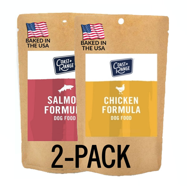 Gently-Baked Salmon + Chicken Formula Food for Adult dogs - 5oz sample 2 Pack (1 of each) - Includes $25 coupon (limit one per customer)