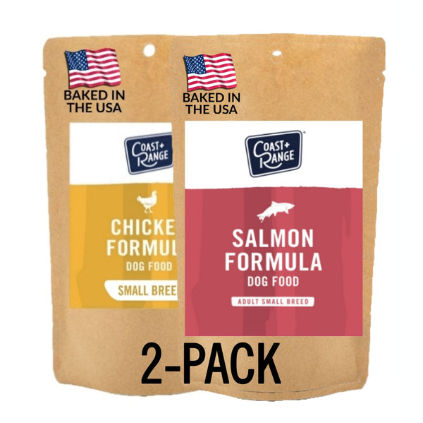 Gently-Baked Salmon + Chicken Formula Food for Adult Small Breed - 5oz SAMPLE 2 pack (1 of each)-Includes $25 coupon (limit one per customer)