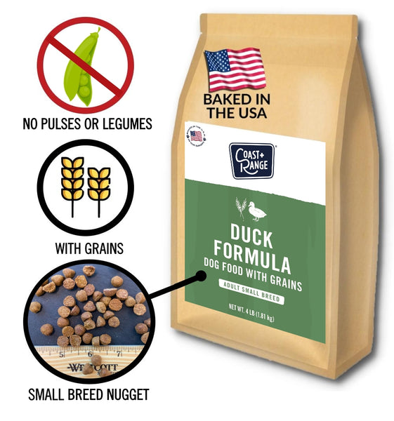 Gently-baked Duck Formula 3.0 WITH GRAINS for Adult Small Breed Dogs - 4lb carton (1 x 4lb bags)