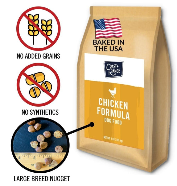 Gently-Baked Chicken Formula 3.0 with NO GRAINS for Larger Breed Adult Dogs - 12lb Carton (3 x 4lb bag)