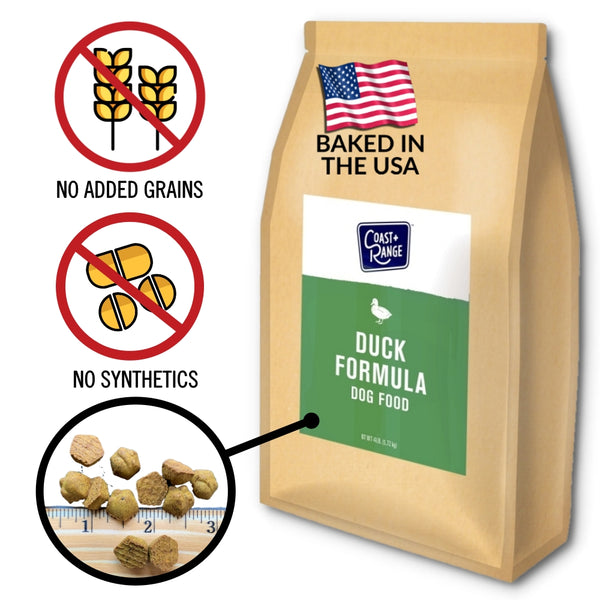 Gently-Baked Duck Formula Food for Adult Dogs - 12lb Carton (3 x 4lb bags)