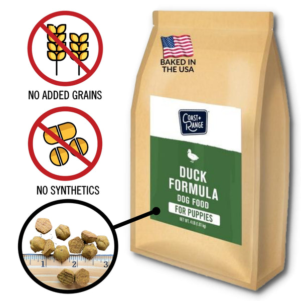 Gently-Baked Duck Formula Food for PUPPIES - 24lb Carton (6 x 4lb bag)