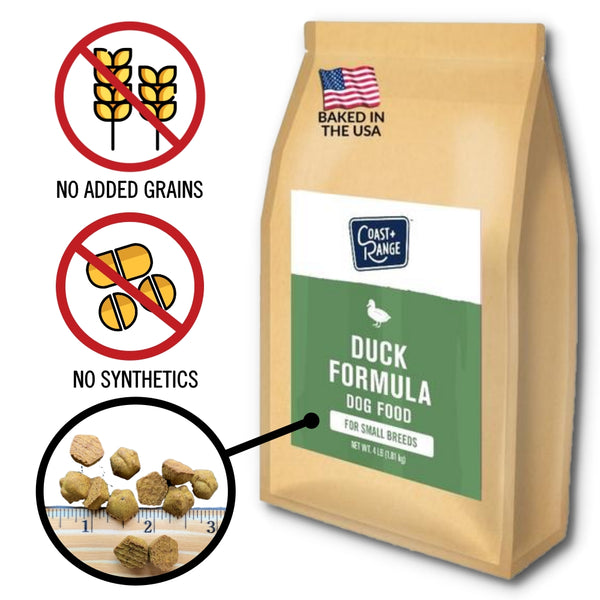 Gently-Baked Duck Formula Food for Adult Small Breed Dogs - 8lb Carton (2 x 4lb bag)