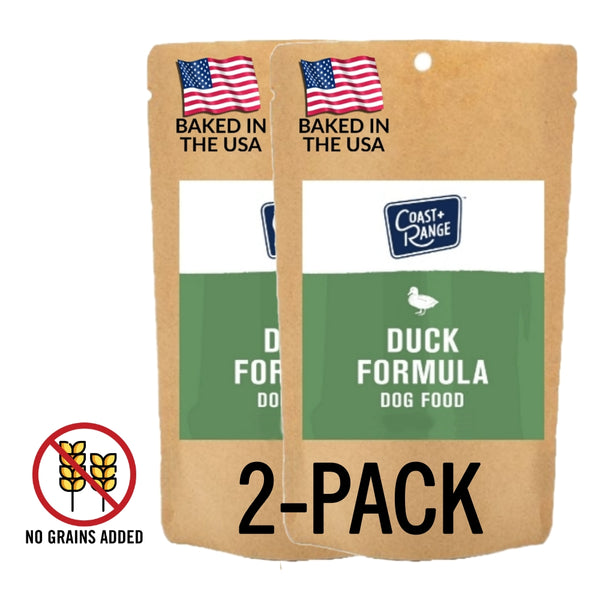 Gently-Baked Duck Formula 3.0 WITH NO GRAINS for Adult SMALL BREED Dogs - 5oz Sample 2 PACK - Includes $25 coupon (limit one per customer)