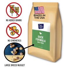 Gently-Baked Duck Formula 3.0 with NO GRAINS for Larger Breed Adult Dogs - 24lb Carton (2 x 12lb bags)