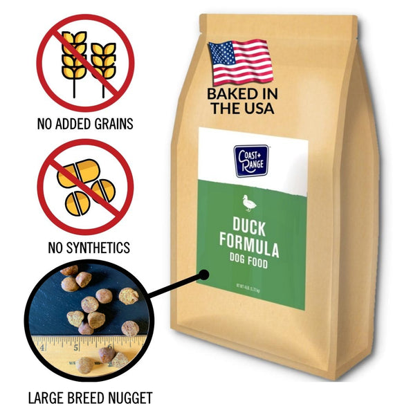 Gently-Baked Duck Formula 3.0 with NO GRAINS for Larger Breed Adult Dogs - 12lb Carton (3 x 4lb bags)