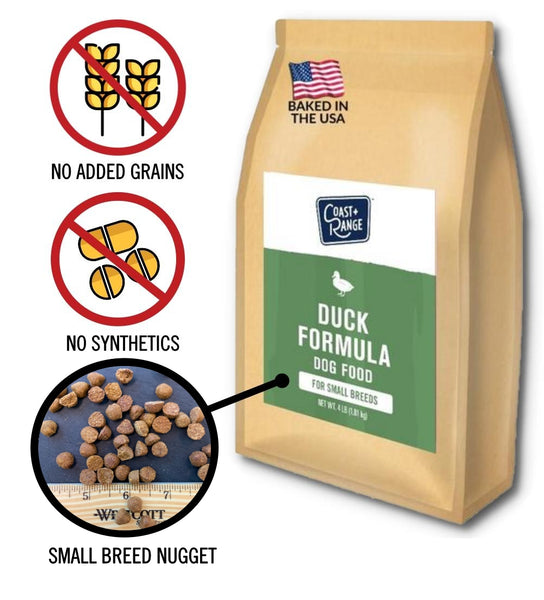 Gently-Baked Duck Formula 3.0 with NO GRAINS for Adult Small Breed Dogs - 8lb Carton (2 x 4lb bag)