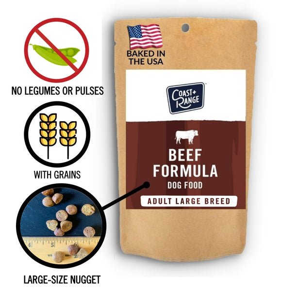 Gently-Baked Beef Formula 3.0 WITH GRAINS for Larger Breed Adult Dogs - 5oz Sample - Includes $25 coupon (limit one per customer)