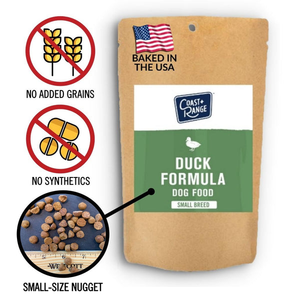 Gently-Baked Duck Formula Dog Food 3.0 With NO GRAINS for Adult SMALL BREED Dogs  - 5oz Sample - Includes $25 coupon (limit one per customer)