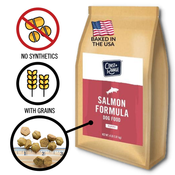 Gently-Baked Salmon Formula Food for PUPPIES - 24lb Carton (6 X 4lb bags)