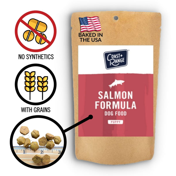 Gently-Baked Salmon Formula Food for PUPPIES - 5oz Sample - Includes $25 coupon (limit one per customer)