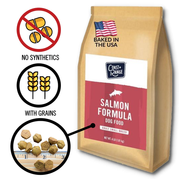 Gently-Baked Salmon Formula Food for Adult Small Breed Dogs - 4lb Carton (1 x 4lb bag)