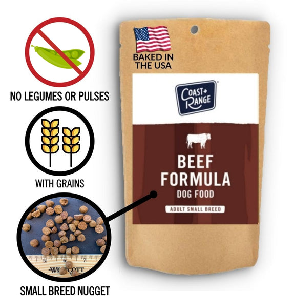 Gently-Baked Beef Formula 3.0 WITH GRAINS for Adult SMALL BREED Dogs - 5oz Sample - Includes $25 coupon (limit one per customer)