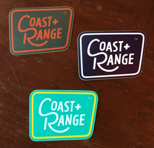 COAST+RANGE Sticker 3 pack