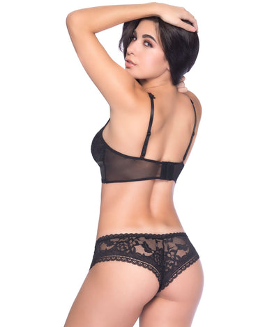 Yvette Lace Boyshort in Black