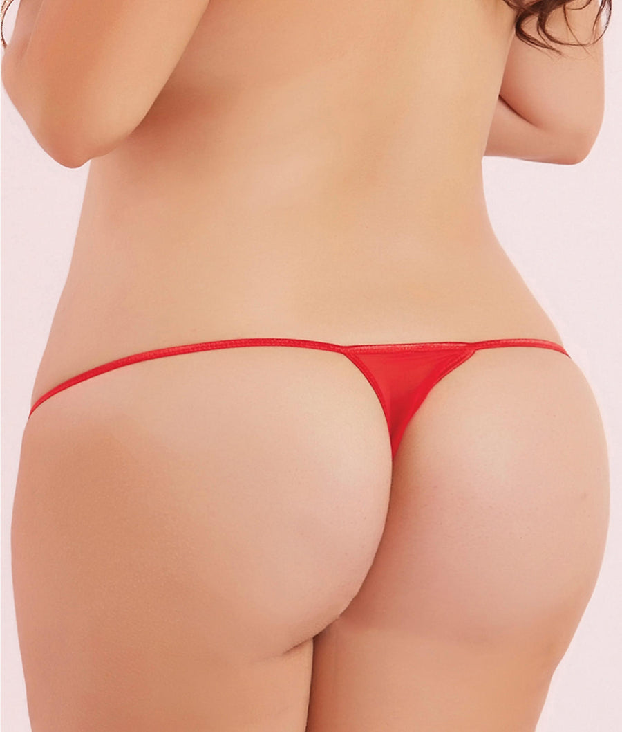 Plus Size Mesh Thong