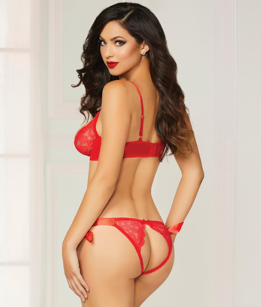 Peek-A-Boo Lace Bra & Panty Set