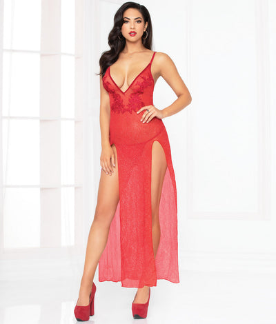 All That Glitters Gown Set in Red