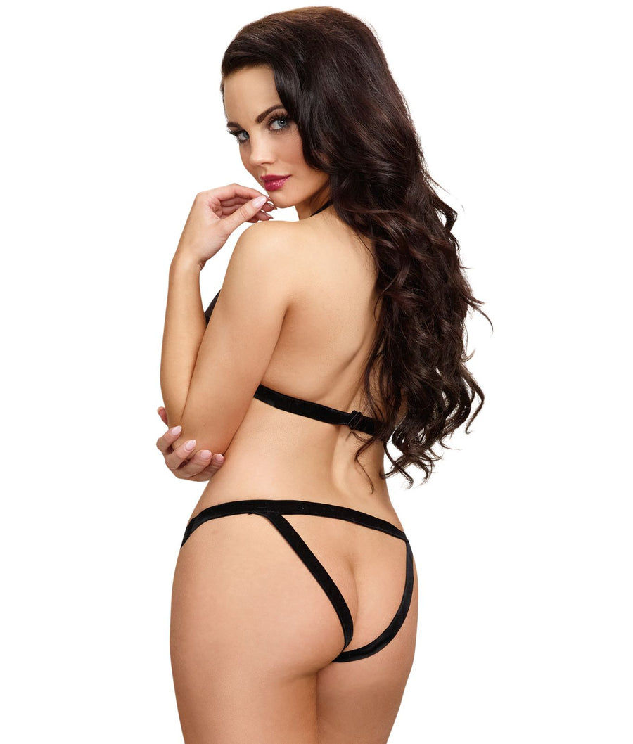 Velvet Heart Wire-Free Bra & Open Back Panty Set