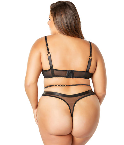 Chantelle Bra & Panty Set in Black