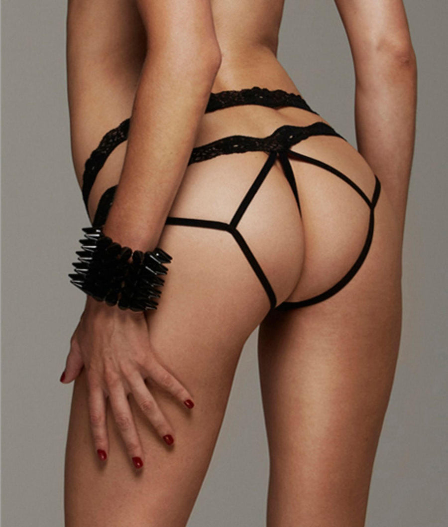 Lust and Lace Bondage Crotchless Tanga