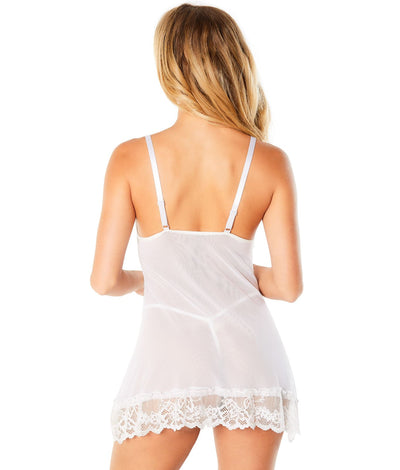 Lace Babydoll Set in White