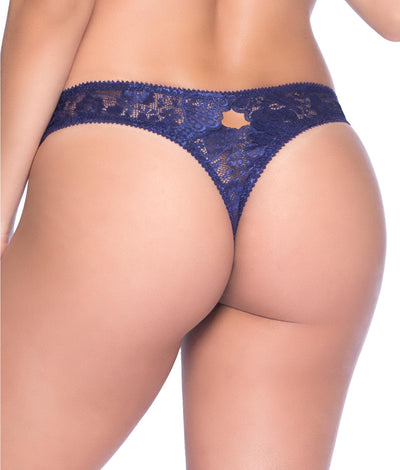 Josilyn Lace Thong in Astral Blue