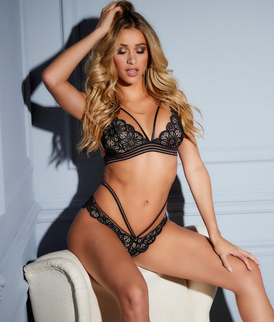 Charisse Bra & Panty Set in Black