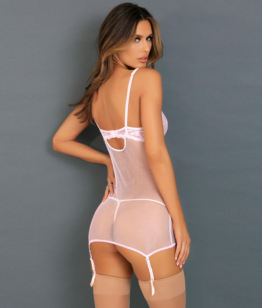 Pink||Deconstruct Me Chemise Set in Pink