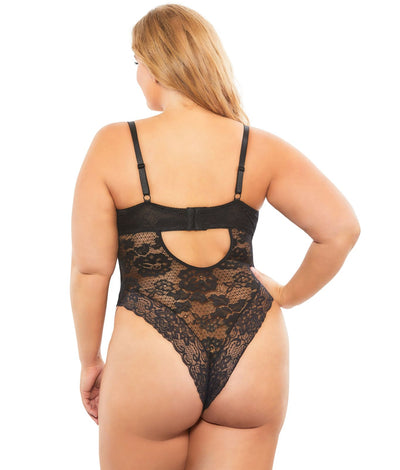 Plus Size Lexi Bodysuit in Black