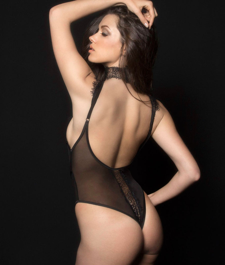 Black||Kaviar Lingerie Lola Bodysuit in Black