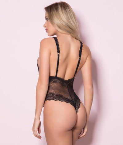 Lace Teddy in Black