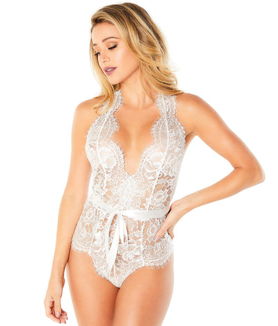 Naomi Lace Teddy in White